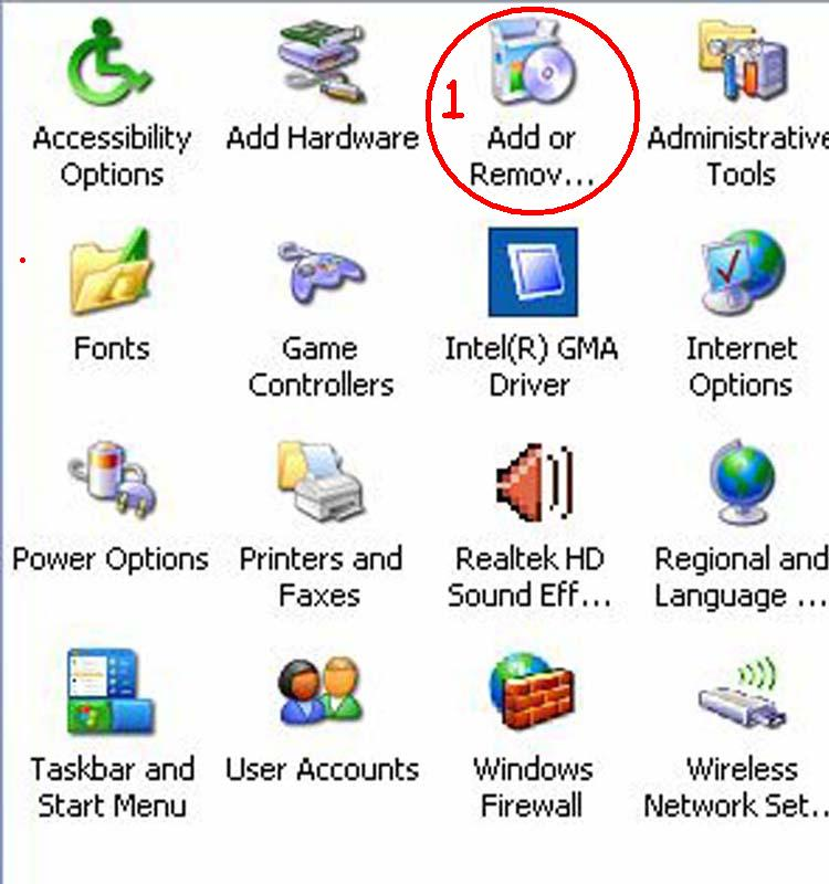 How can you add or remove programs?
