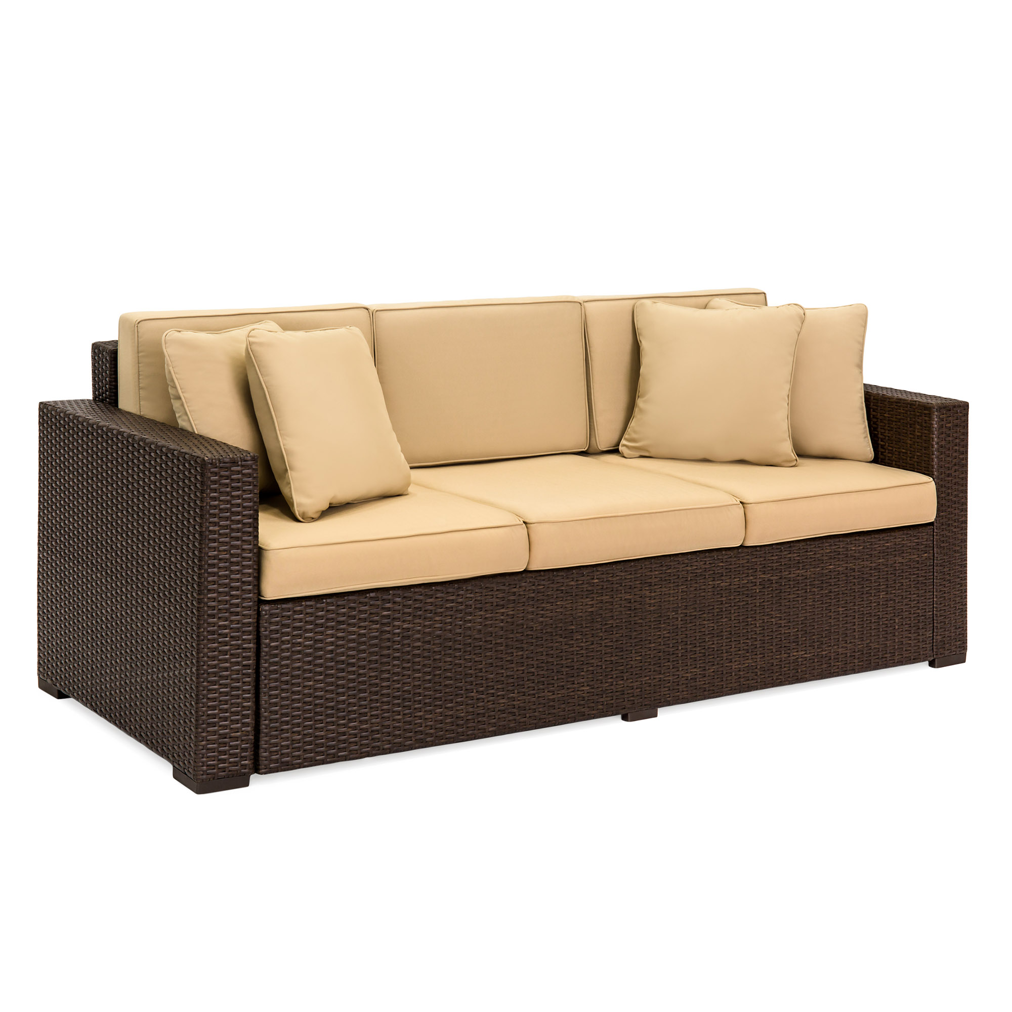 wicker sofas ashley furniture victory chocolate sofa outdoor patio 3 seater luxury