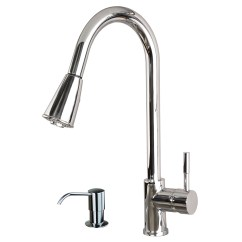 Kitchen Faucets With Soap Dispenser Single Handle Pulldown Faucet Contemporary 16 Quot Pull Down Spray Sink