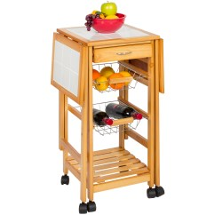 Portable Kitchen Island With Drop Leaf Used Cabinets Folding Tile Top Cart