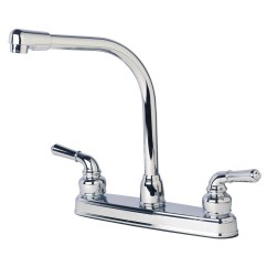Mobile Home Kitchen Faucets Rating Knives Rv Classic High Rise Swivel Faucet