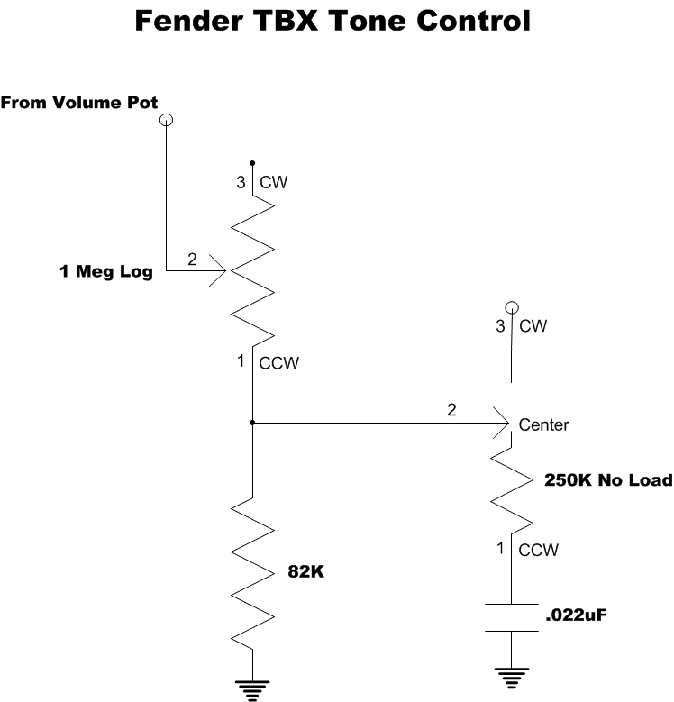 Modified TBX Tone Control  Phostenix Wiring Diagrams