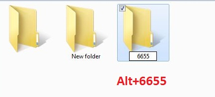 How to create new folder without name?
