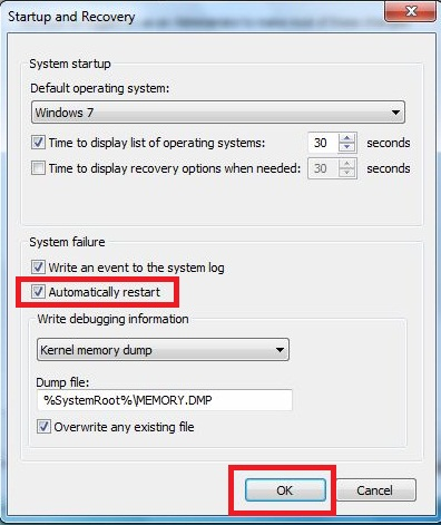 How can fix computer restart automatically?