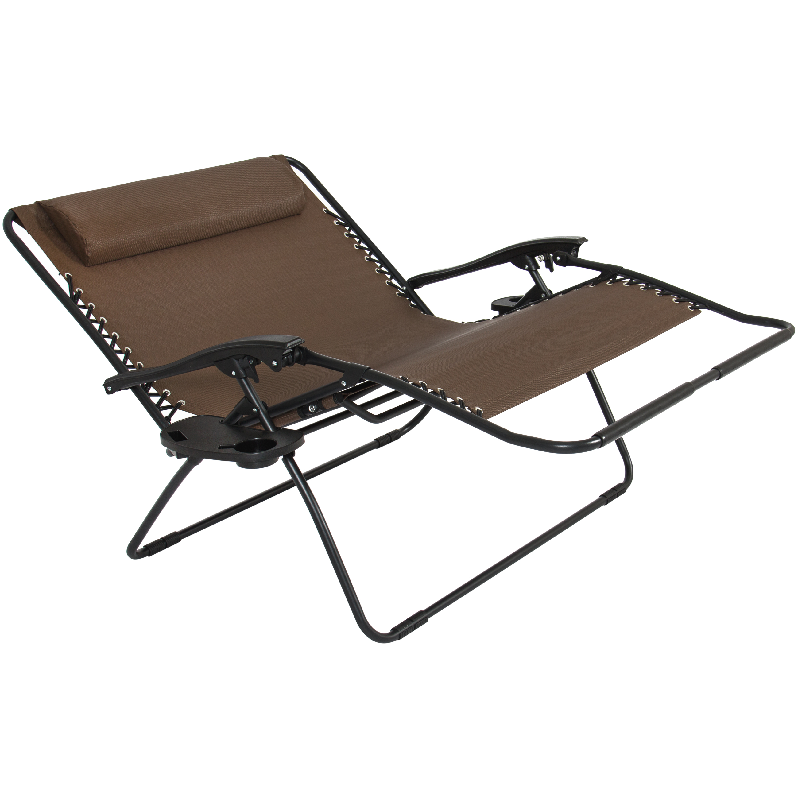 Two Person Folding Chair Folding 2 Person Oversized Zero Gravity Lounge Chair W 2