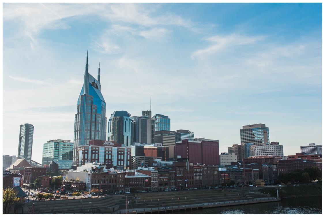 Nashville Pedestrian Bridge view