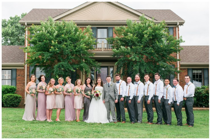 Bridal Party at Barn in the Bend