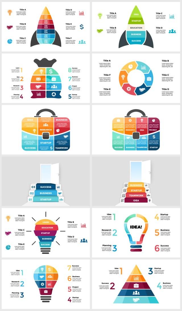 Huge Infographics Bundle! Lifetime Updates! PowerPoint, Photoshop, Illustrator. - 107
