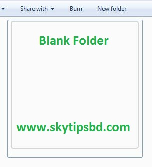 How to create blank icon folder without name?