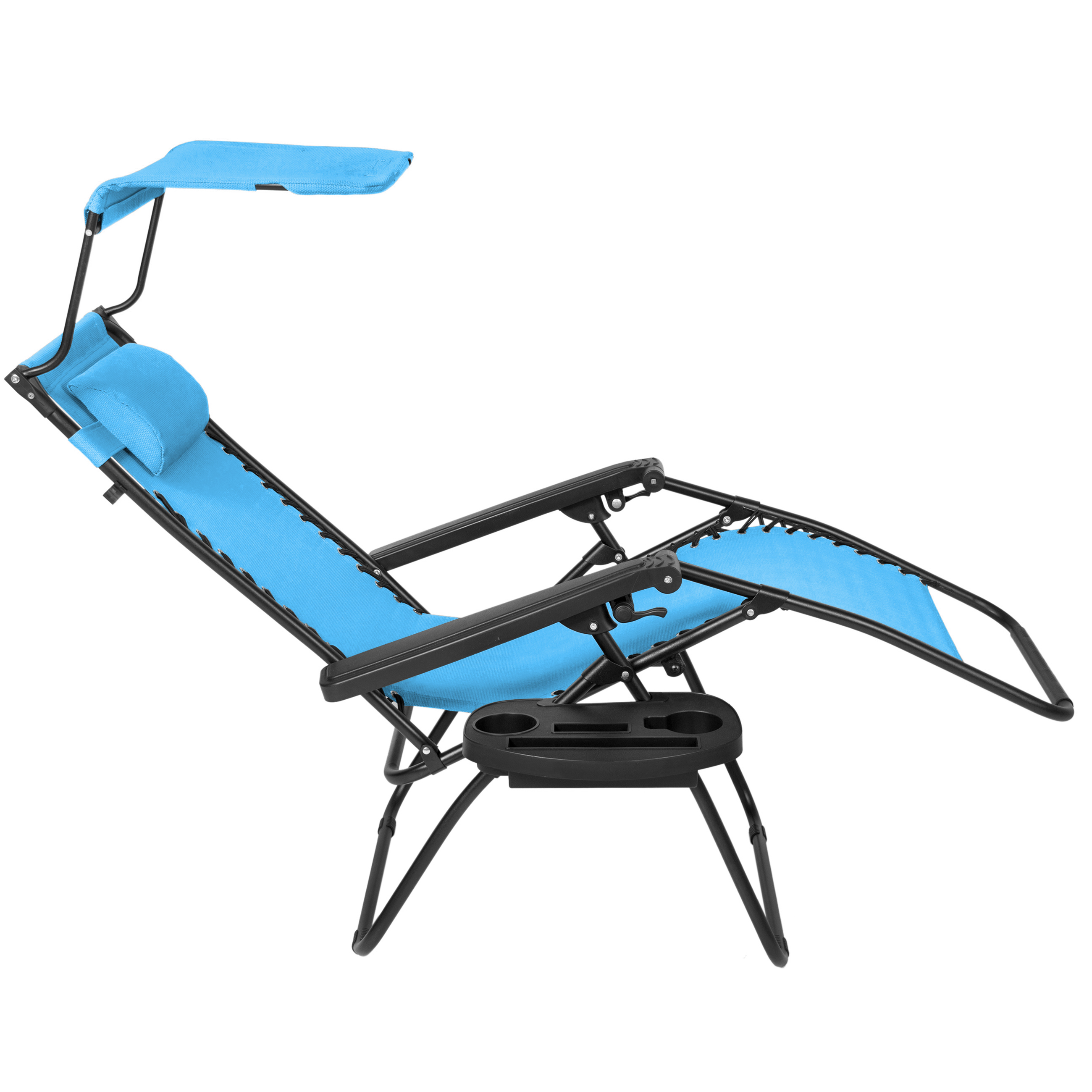 Oversized Zero Gravity Chair With Canopy Folding Zero Gravity Lounge Chair W Canopy And Magazine Cup