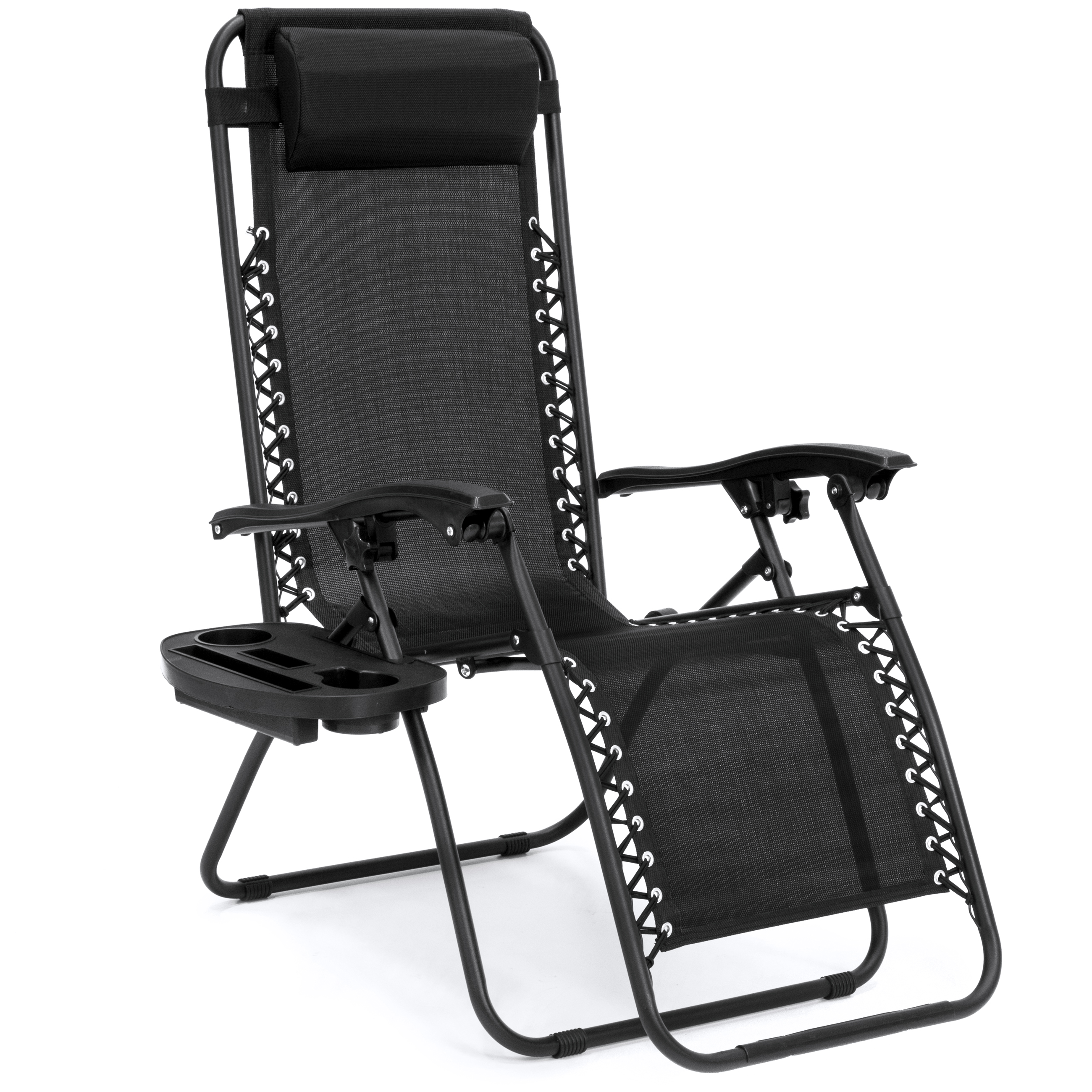 Beach Chair With Canopy And Cup Holder Bcp Set Of 2 Zero Gravity Chairs W Cup Holders Black