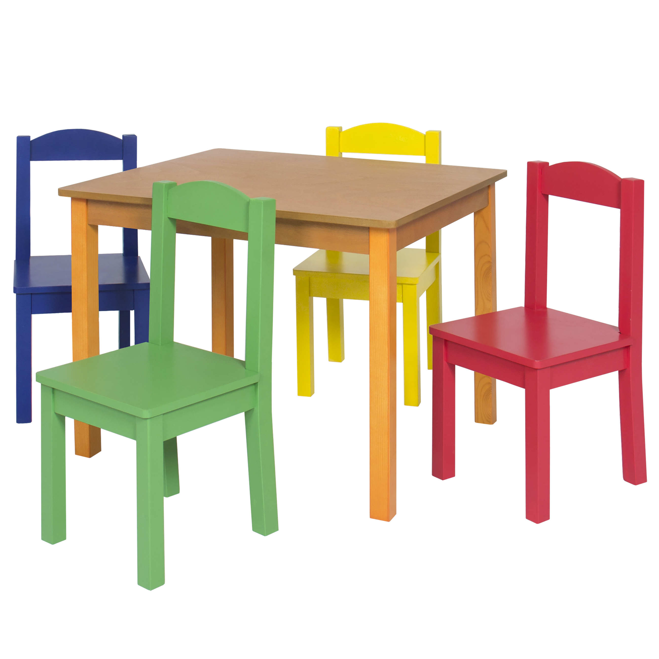 Kids Wood Table And Chairs Kids Wooden Table And 4 Chair Set Furniture Primary