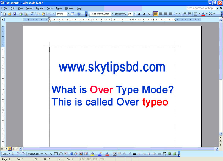 What is Over type mode?