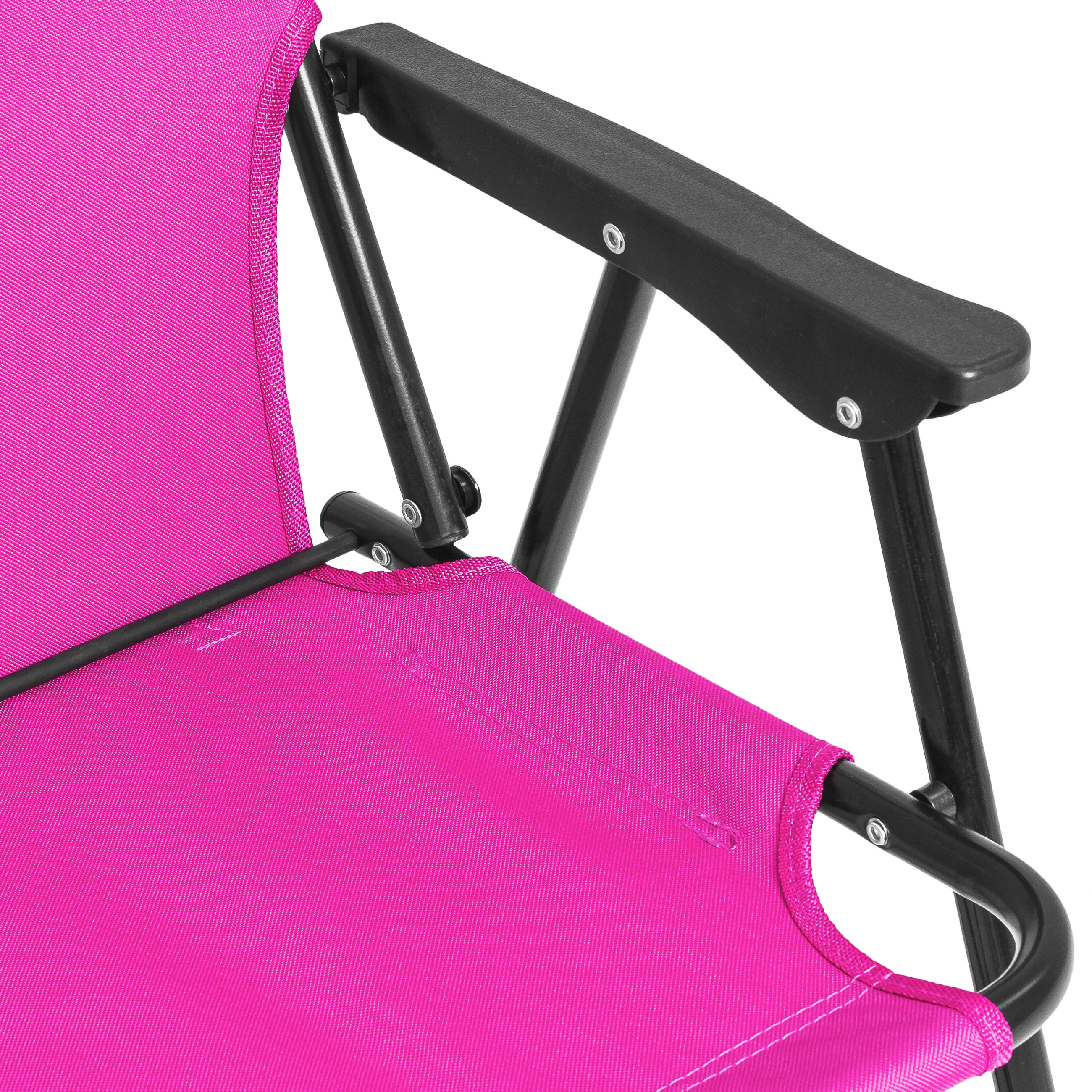 pink folding camping chair danish modern bcp adjustable outdoor backpack beach