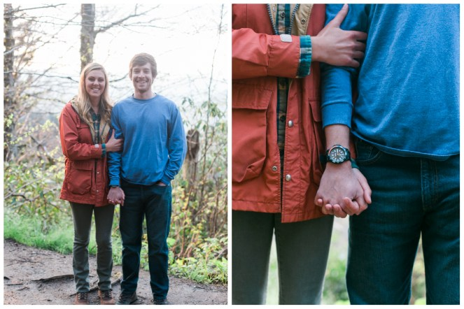 bride-and-groom-holding-hands-charlies-bunion-engagement-Jill and Daniel