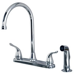 Mobile Home Kitchen Faucets Counter Height Stools Classic High Arc Swivel Faucet With Side Spray