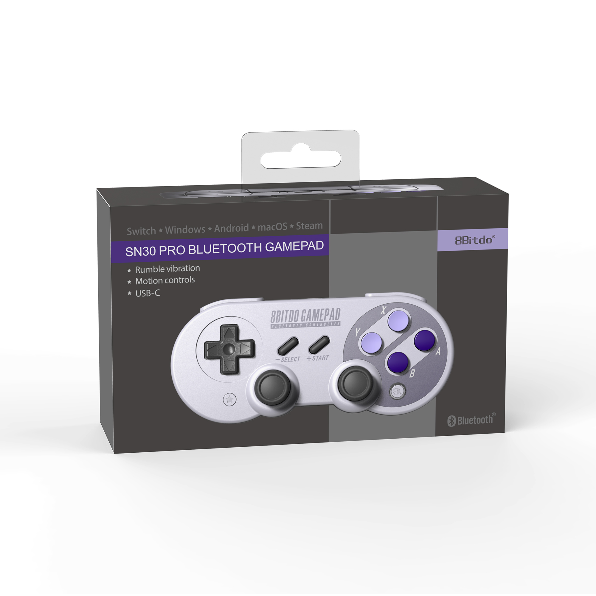 8bitdo sn30 pro controller windows macos android nintendo switch 3