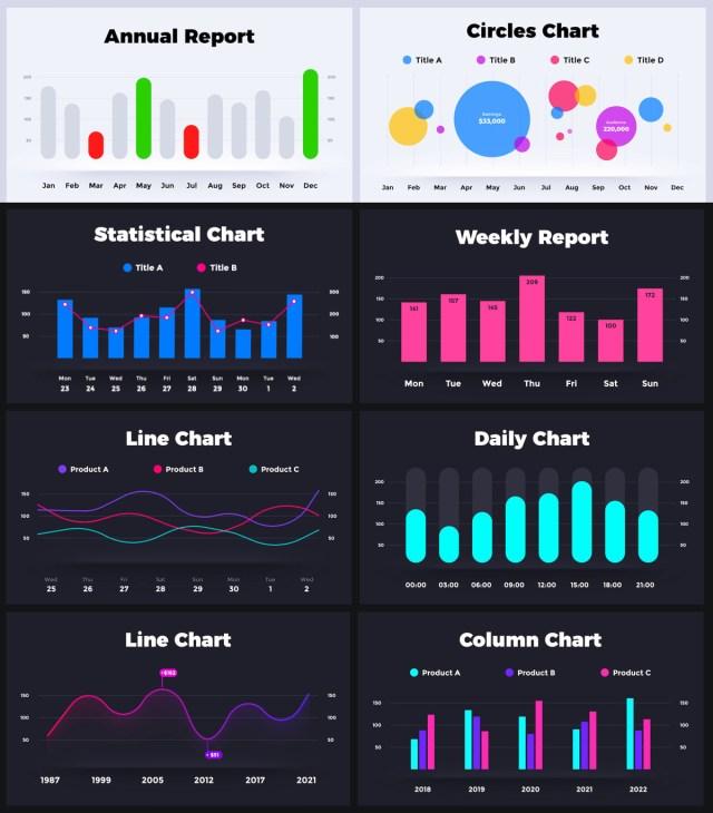 Huge Infographics Bundle! Lifetime Updates! PowerPoint, Photoshop, Illustrator. - 176