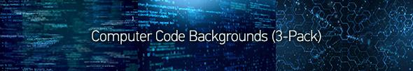 Hi-Tech Data Backgrounds (4-Pack) - 4
