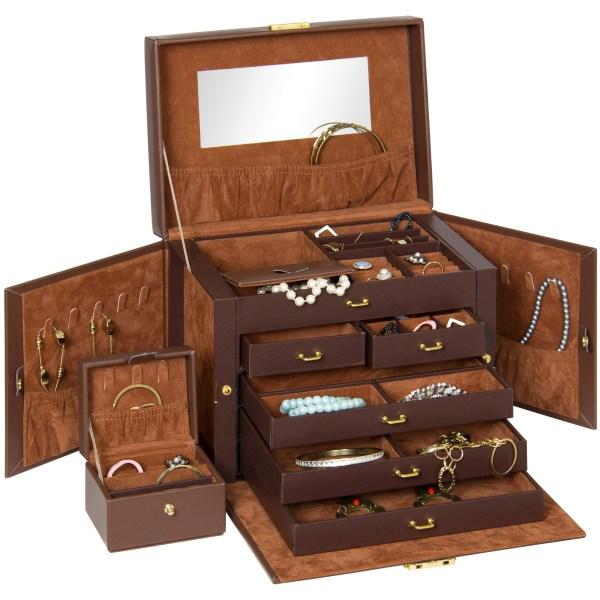 Bcp Leather Jewelry Box With Velvet Interior 816586025968