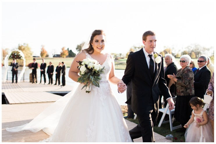Alan and Courtney recessional