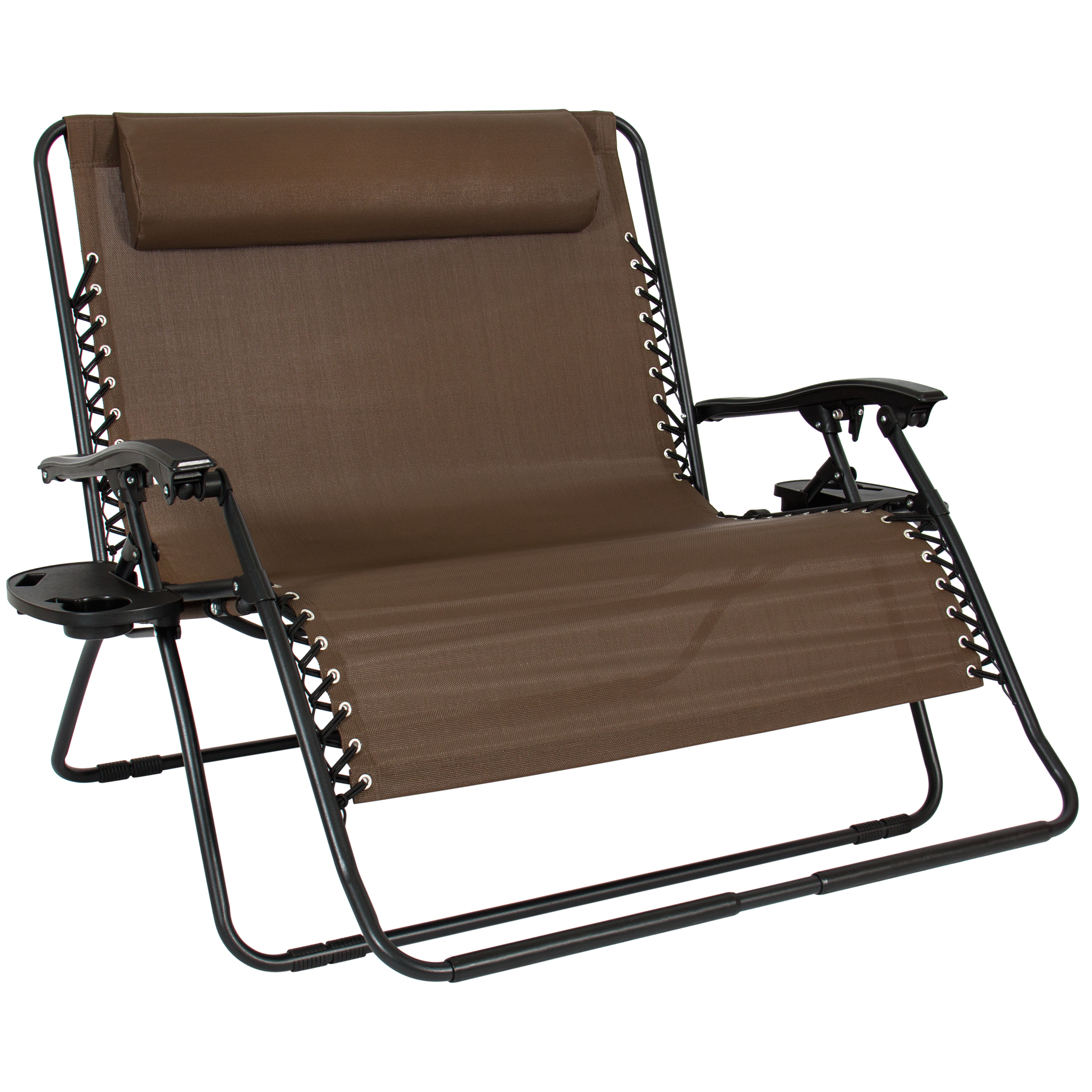 Indoor Zero Gravity Chair Folding 2 Person Oversized Zero Gravity Lounge Chair W 2