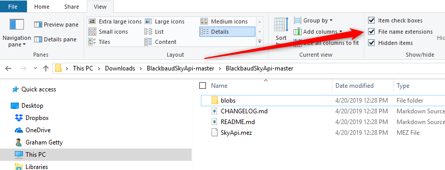 Extracted BlackbaudSkyApi-master files screenshot