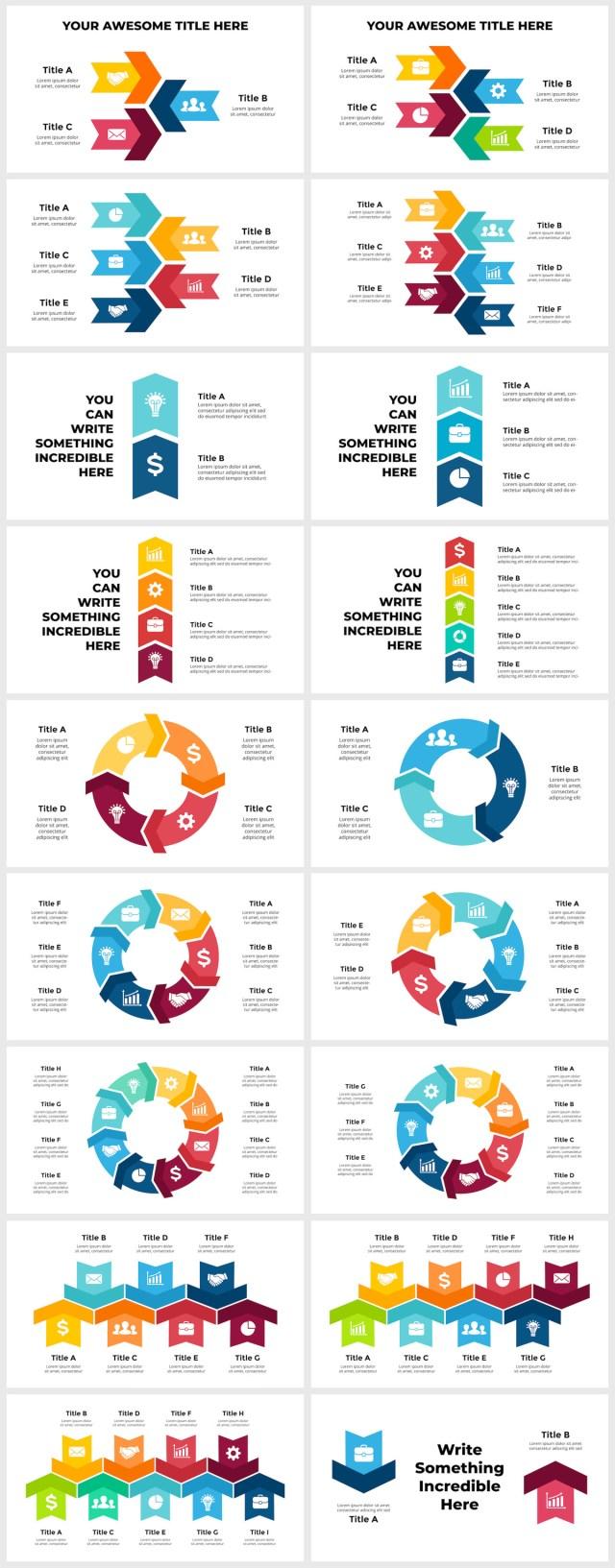 Huge Infographics Bundle! Lifetime Updates! PowerPoint, Photoshop, Illustrator. - 243