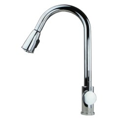 Kitchen Faucets With Soap Dispenser Sink Strainer Basket Contemporary 16 Quot Pull Down Spray Faucet