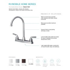 Mobile Home Kitchen Faucets Faucet Brands Rv Classic High Arc Swivel