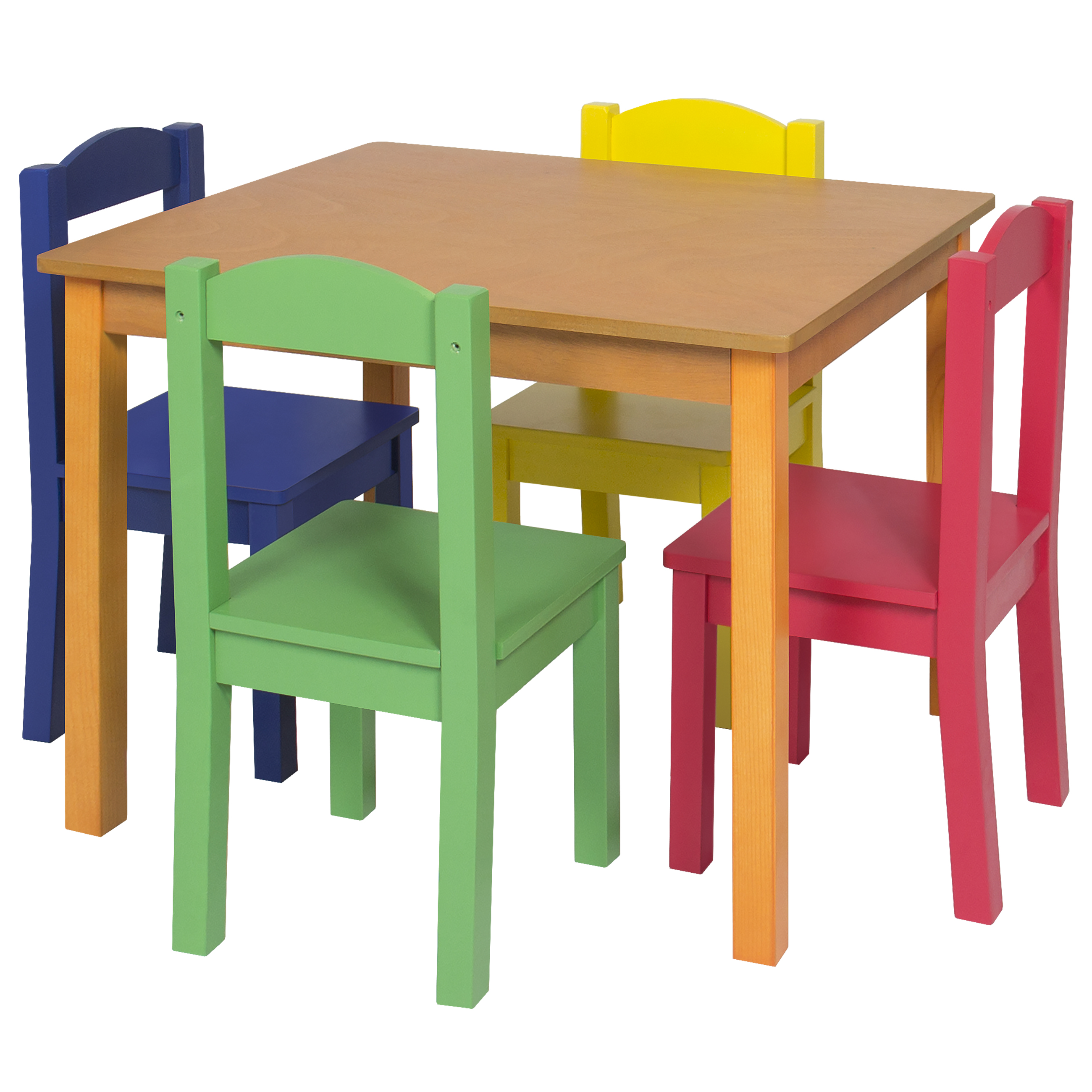 Wooden Table And Chairs Kids Wooden Table And 4 Chair Set Furniture Primary