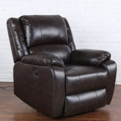 Power Sofa Recliner Mechanism Cushion Ideas For Dark Brown Plush Living Room Bonded Leather Chair Reclining