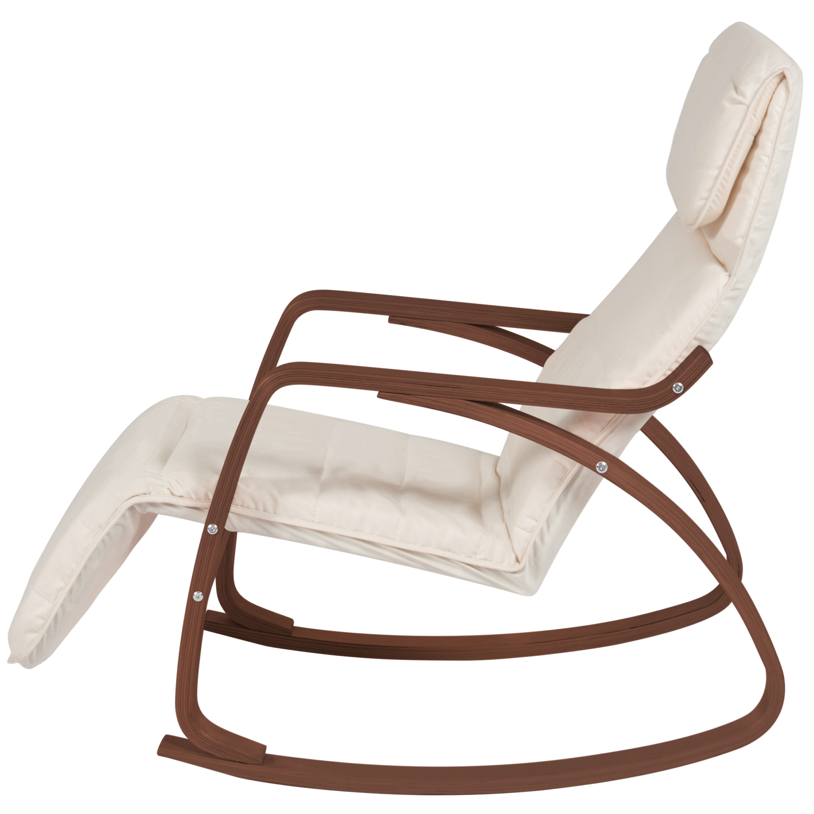 rocking chair footrest fabrics for reupholstering chairs wood recliner w adjustable foot rest white