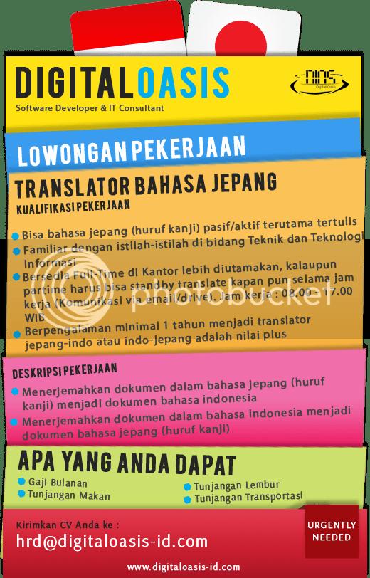 Translet Jepang Indo : translet, jepang, Dicari, Translator, Bahasa, Jepang, KASKUS