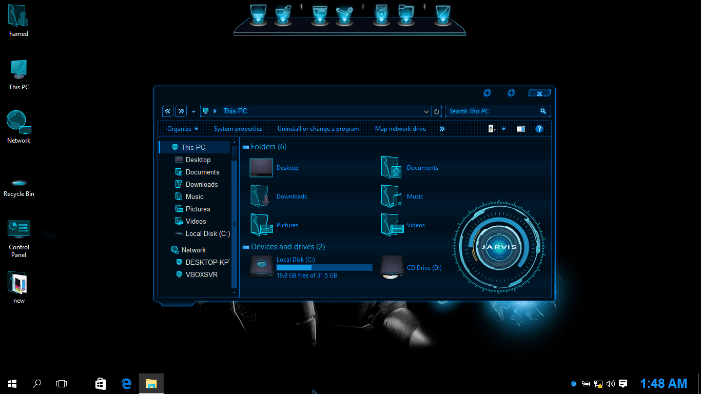 Jarvis SkinPack for Win10 released - SkinPack - Customize Your