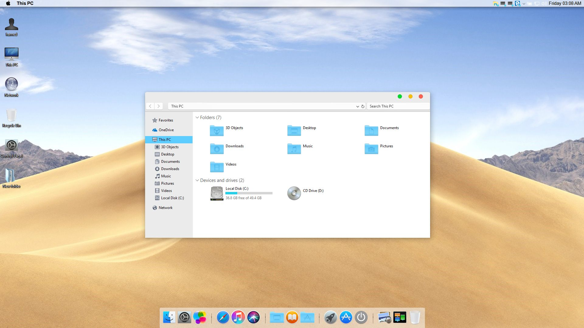 latest mac os transformation pack for windows 7