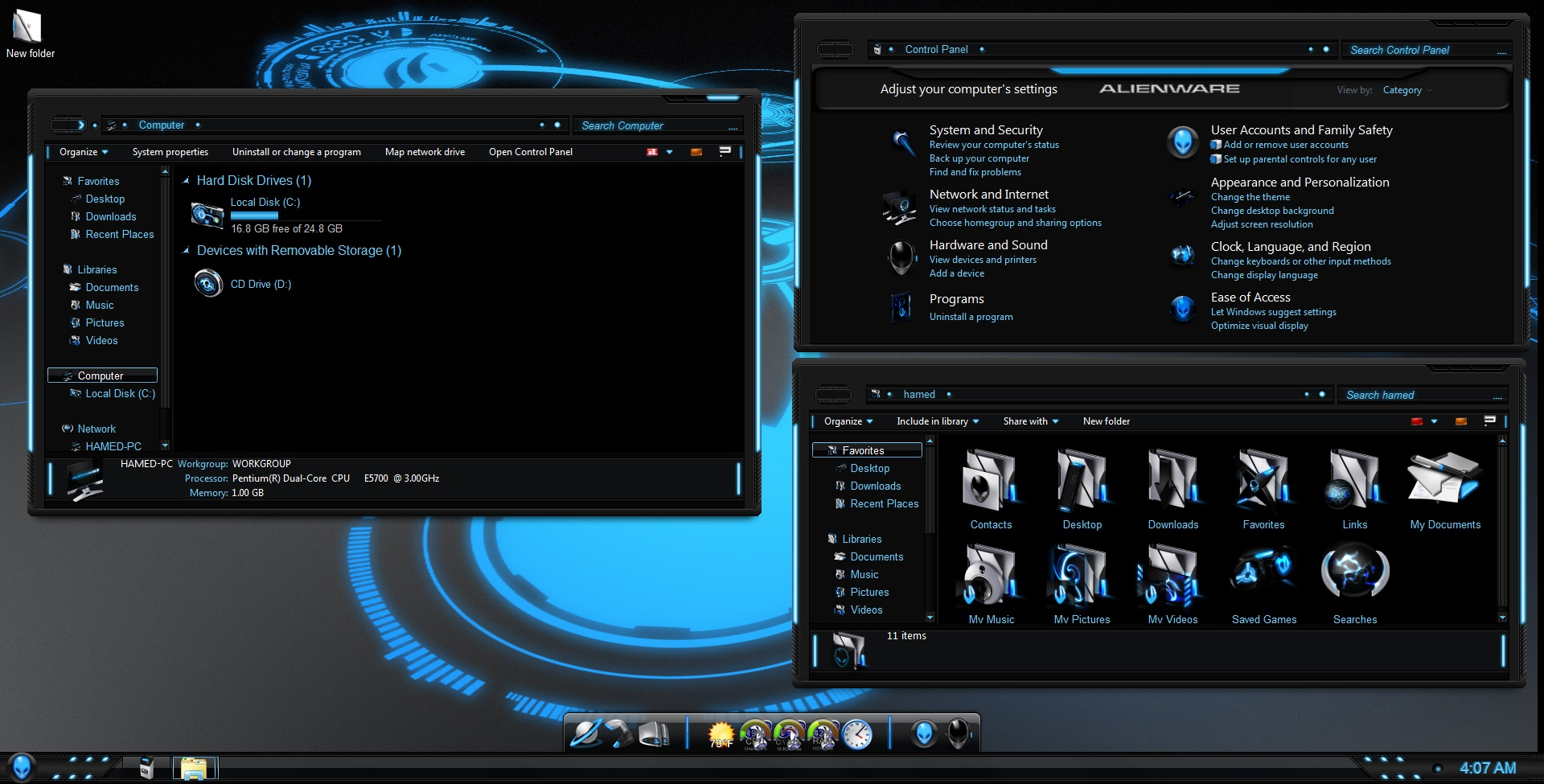gratuitement le theme alienware pour windows 7