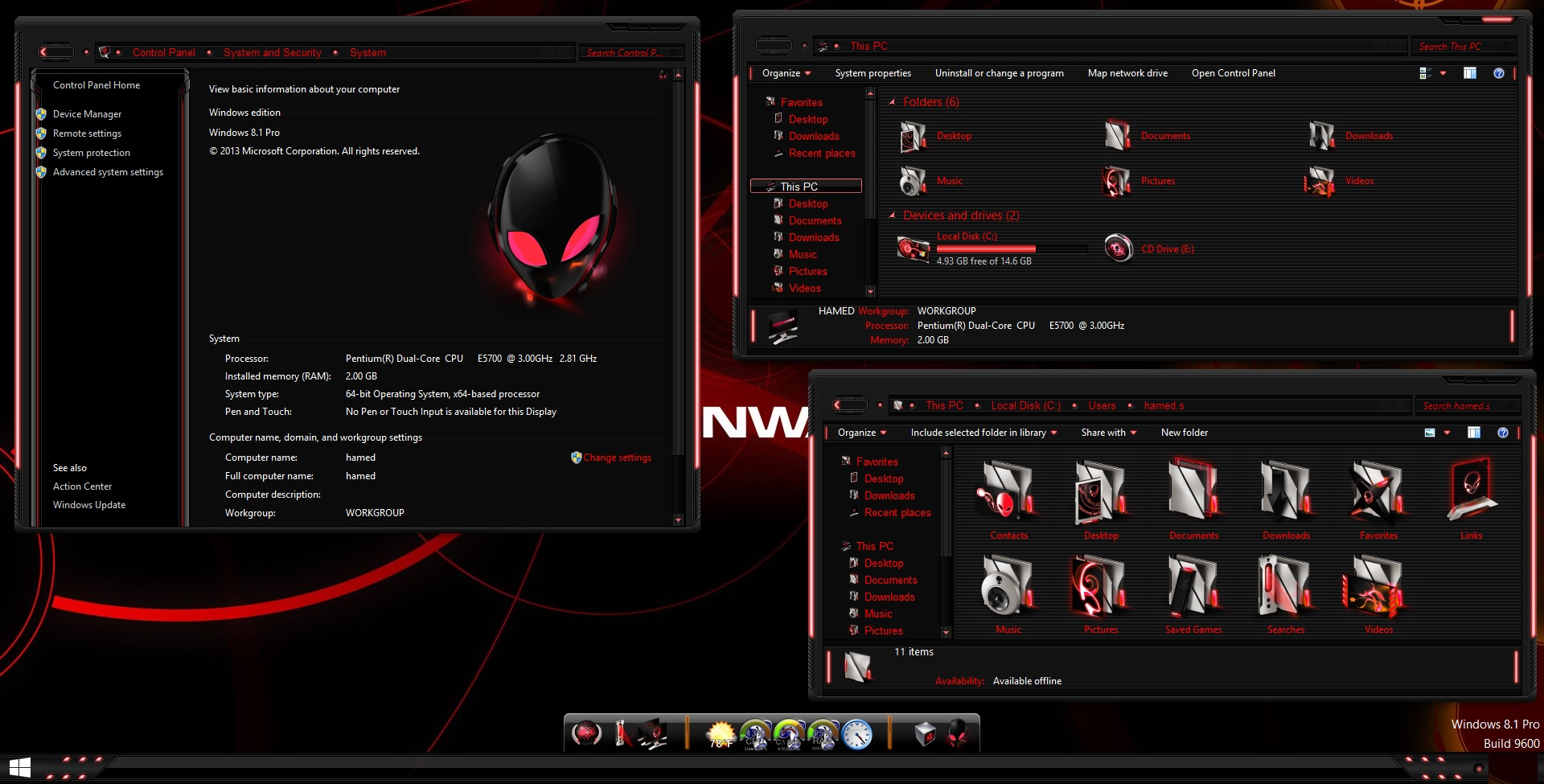 alienware red skin pack