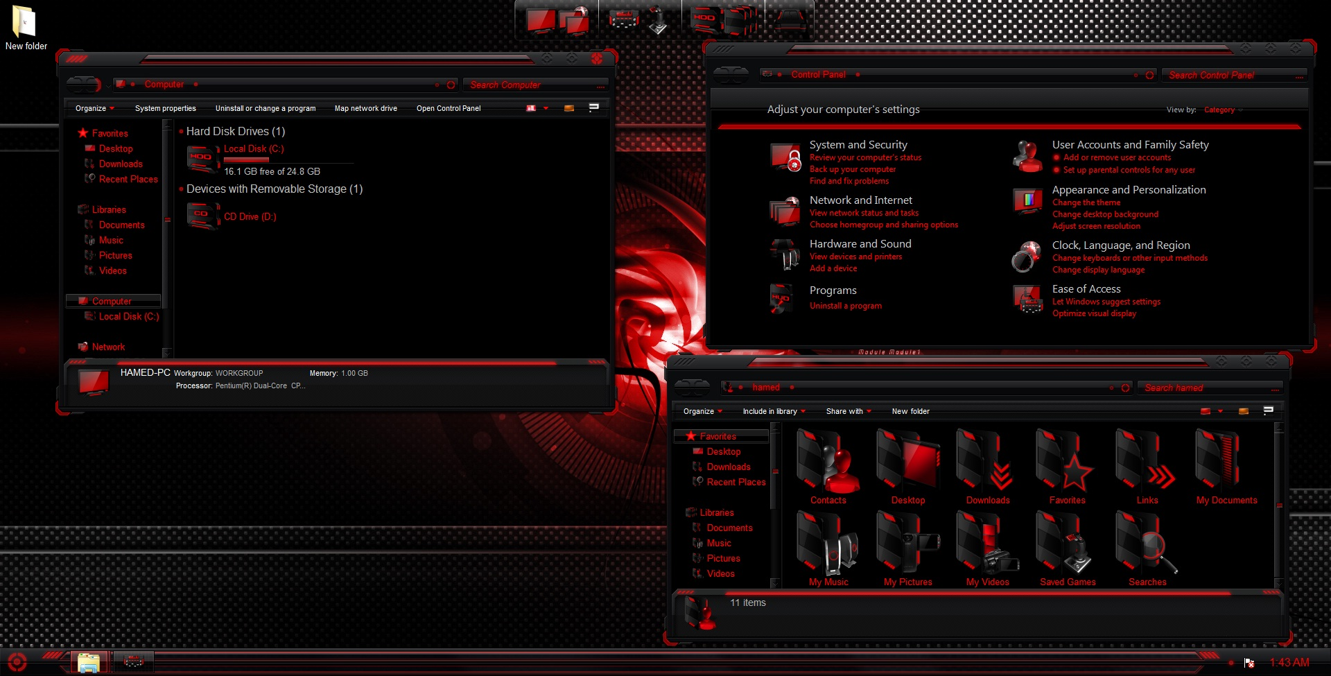 Awesome alienware skin pack for windows 7 [windows7 gaming theme].
