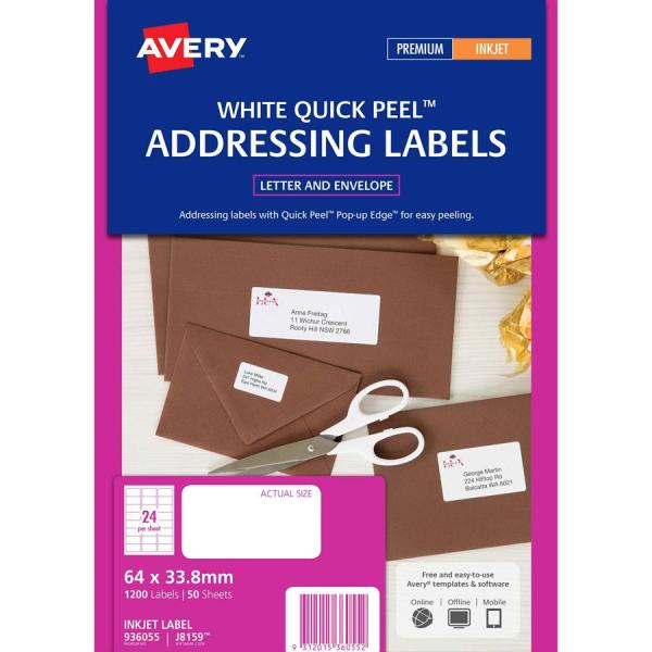 Avery Inkjet Labels J8159 24 Sheet - Labl5322 Complete Office Supplies