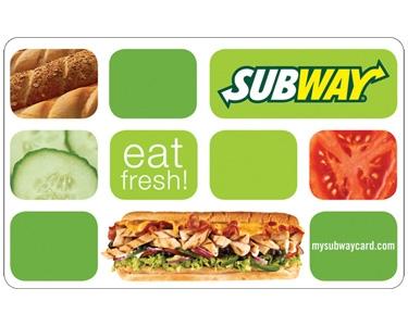 10 Subway Gift Card
