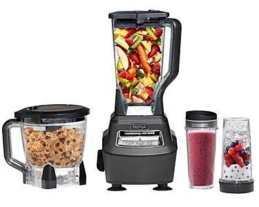 ninja 1500 watt mega kitchen system glass tiles for backsplash bl770 blender & food processor ...