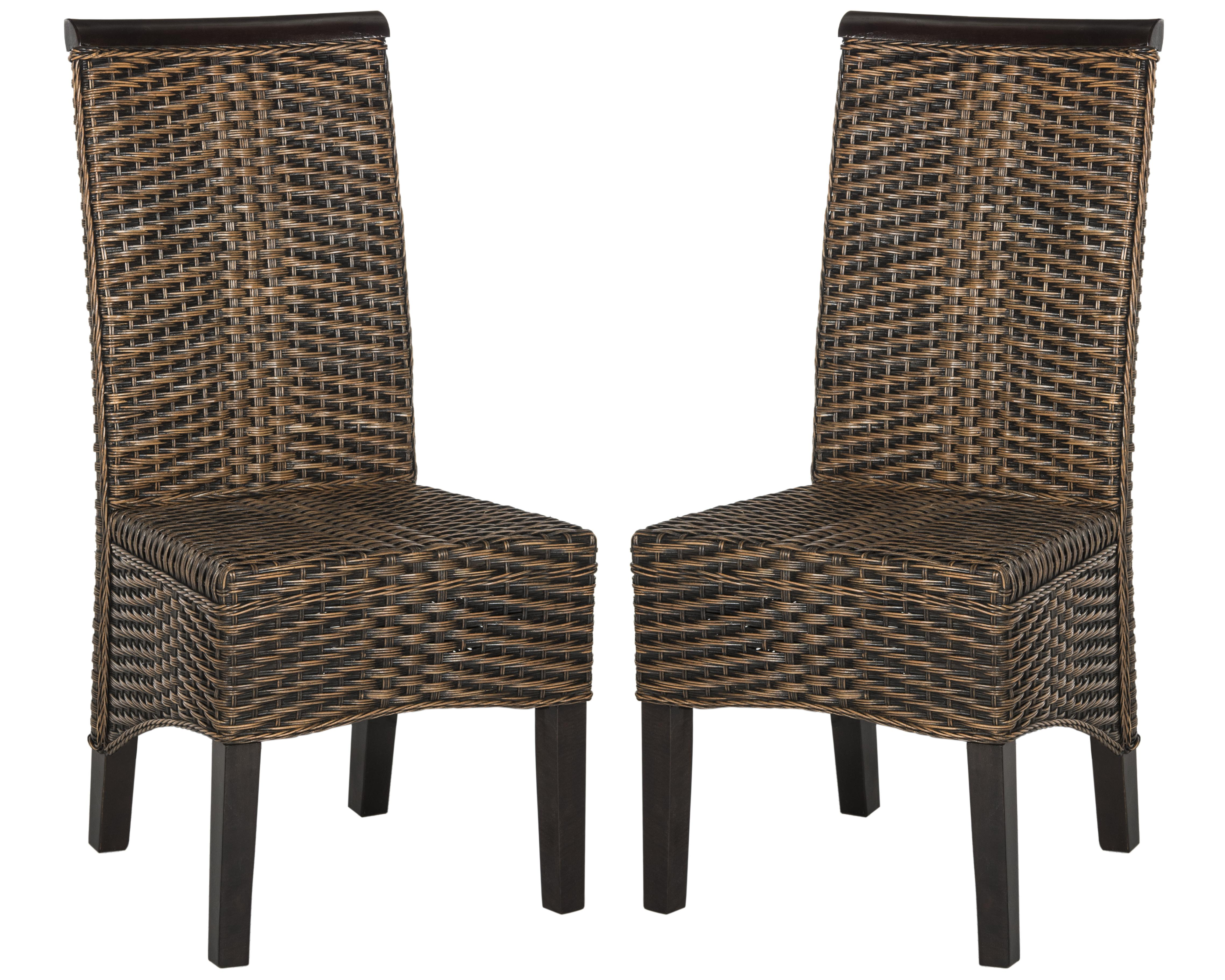 safavieh dining chairs red leather chair and ottoman ilya wicker ebay