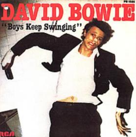 "Boys Keep Swinging by David Bowie 1979 France 7"" single cover"