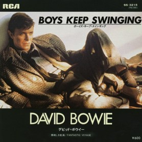 "Boys Keep Swinging by David Bowie 1979 Japan 7"" single cover"