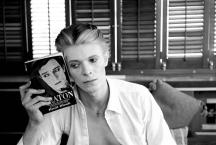 David Bowie with Buster Keaton book