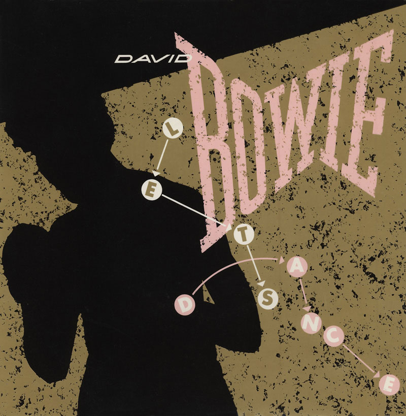 Let's Dance by David Bowie 1983 UK single cover