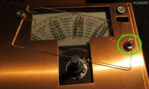 Drake RV-4 Kalibrieplatte mit Federscheibe