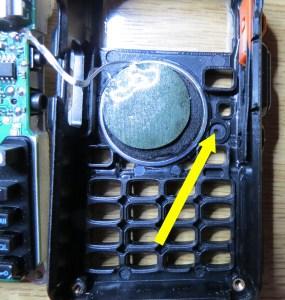 Baofeng UV5R+ Frontplatte von innen