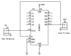 CD 4018 Beschaltung als Teiler durch 10